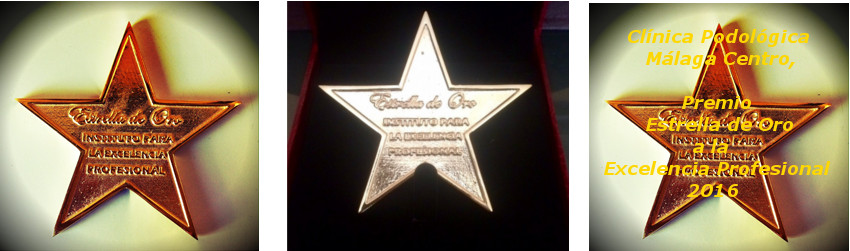 Clínica Podológica Málaga Centro galardonada con la «Estrella de Oro a la Excelencia Profesional 2016»